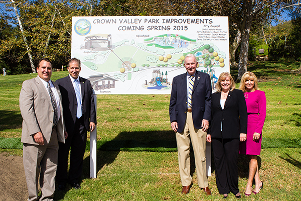 Promises made, promises kept. A few glimpses of the Crown Valley Park Groundbreaking Ceremony.